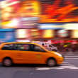 Taxi at time square — ストック写真