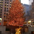 Christmas tree lighting at Rockefeller Center — Foto Stock