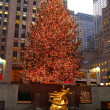 Christmas tree lighting at Rockefeller Center — Stockfoto