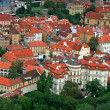 The aerial view of Prague — Stock Photo
