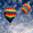 The colorful hot air balloons — Stock Photo