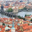 The aerial view of Prague — 图库照片