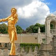 Stock Photo: The Statue of Johann Strauss in stadtpark