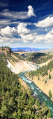 The Yellowstone River in Yellowstone NP — Stock Photo