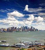 The Lower Manhattan Skyline — Stockfoto