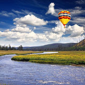 The scenery of Yellowstone National Park — Stock Photo