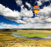 The scenery along the Yellowstone River — Stock Photo