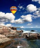 Acadia national park maine kust — Stockfoto