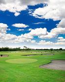 A golf course resort — Stock Photo