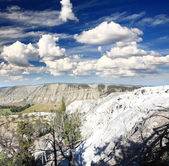 The Mammoth Hot Spring area in Yellowstone — Stock Photo
