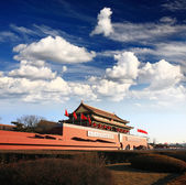 ворота тянь ан мужчины в пекине — Стоковое фото
