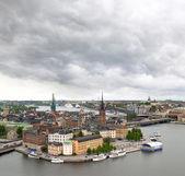 Vista del paisaje urbano de estocolmo — Foto de Stock