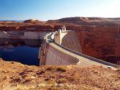 Glen Canyon Dam and Lake Powell — Stock Photo