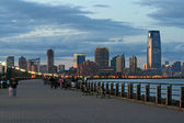The Jersey City skyline — Stock Photo