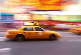 Taxi at time square — Stock Photo