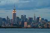 The New York City skyline — Stockfoto