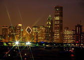 Chicago skyline with star light effect — Stock Photo