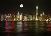 The beautiful Hong Kong Skyine — Stock Photo