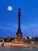 The Columbus Status in the Barcelona — Stock Photo