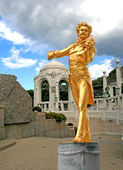 The Statue of Johann Strauss in stadtpark — Stock Photo