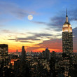 skyline van New york stad midtown — Stockfoto