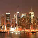 Manhattan Skyline at Christmas Eve — Stock Photo #29391355