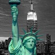 Statue of Liberty and New York City skyline  — Stock Photo