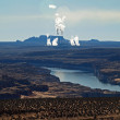 Stock Photo: Colorado river with power plant