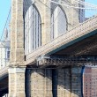 Foto de Stock  : The Brooklyn bridge in New York City