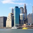 The downtown Manhattan skyline — Stock Photo