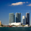 The high-rise buildings in downtown Miami — Stock Photo