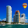 The high-rise buildings in Miami Beach — Stock Photo