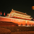 Stock Photo: Tian-An-Men Square and moon eclipse