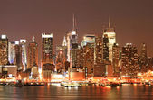 Manhattan Skyline at Christmas Eve — Stock Photo