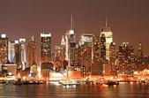 Panorama Manhattanu na Štědrý den — Stock fotografie