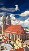 The famous Frauenkirche Church in Munich — Foto de Stock