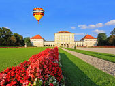 The royal garden at the Nymphenburg Palace — Stock Photo