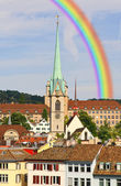 The cityscape of Zurich city — Foto Stock