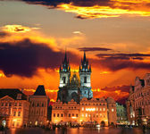 The Old Town Square in Prague City — Stock Photo