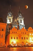 The old town square in Prague — Stock Photo
