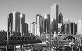 O skyline de chicago — Fotografia Stock