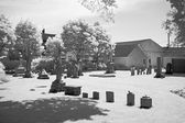 The infrared image of a church ground — Stock Photo