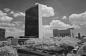 The United Nation Headquarter Plaza — Stock Photo