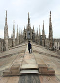 The image from the rooftop of Duomo — 图库照片