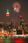 Mid-town Manhattan skyline — Stock Photo
