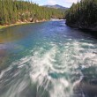 The Yellowstone River near Upper Falls — Stock Photo