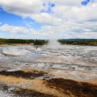 The Firehole Lake Drive in Yellowstone — Stock Photo #29400681