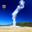 Stock Photo: Old Faithful Geyser in Yellowstone