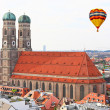 The aerial view of Munich city center — 图库照片