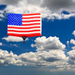 An American flag hot-air balloon — Stock Photo